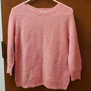 Old Navy 3/4 sleeve pink sweater